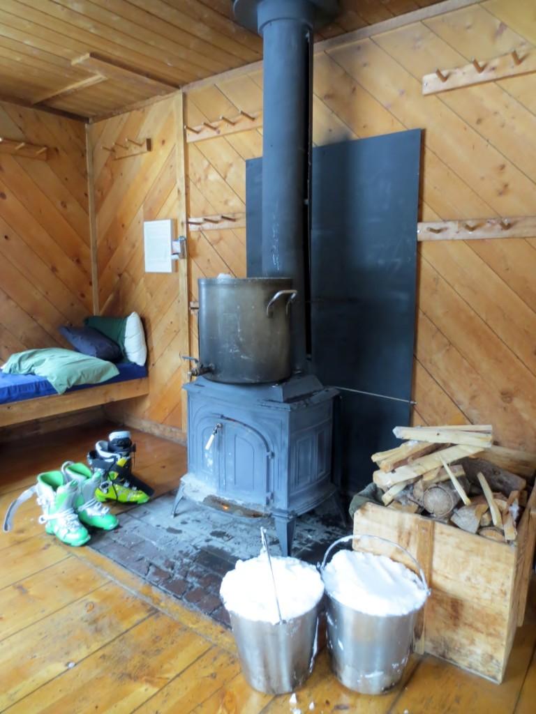 hut trip inside
