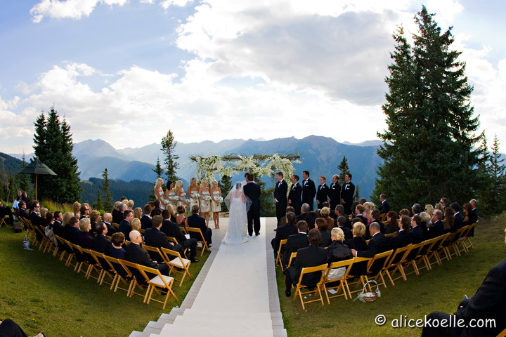 Little Nell Sun Deck Wedding