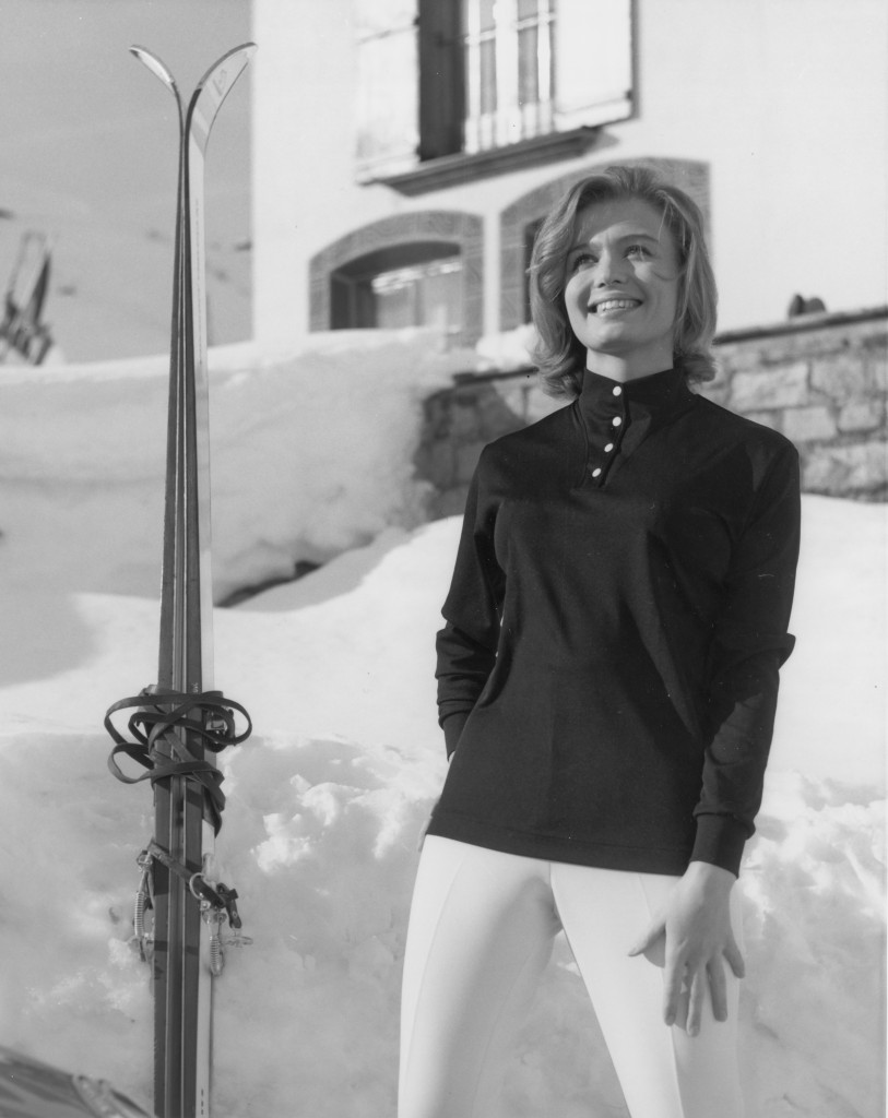 Nome Obermeyer modeling skiwear in the 1960s.