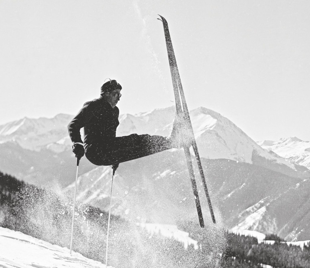 1955 Umsprung turn Aspen Mountain