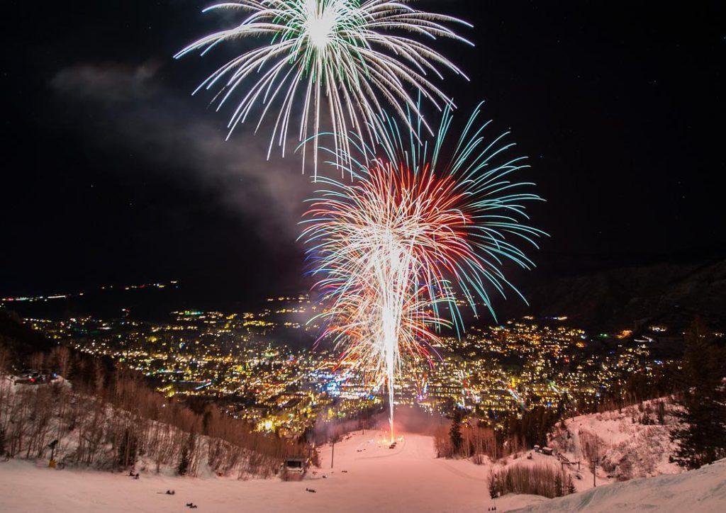 Aspen Mountain NYE Fireworks 2016