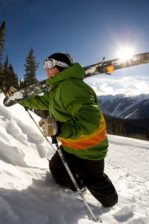 Backcountry skiing aspen Snowmass
