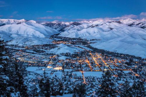 ski town view