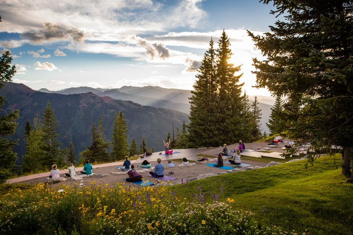 yoga on aspen mountain