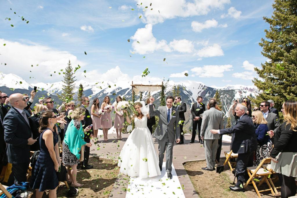 mountain wedding celebration